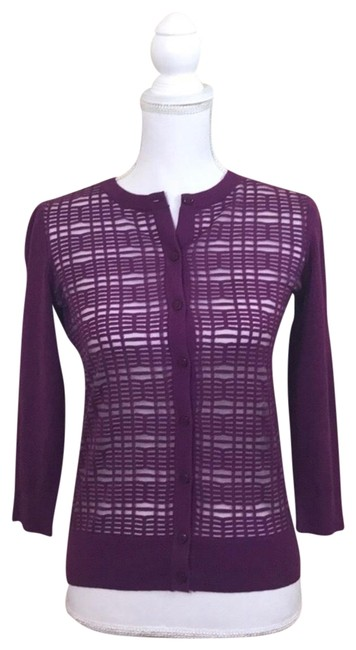 Preload https://img-static.tradesy.com/item/22905150/ann-taylor-button-up-cardigan-purple-sweater-0-1-650-650.jpg