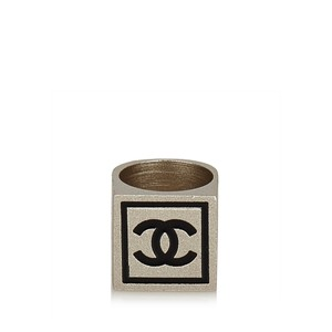Chanel CC Silver-Tone Ring