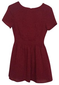 Tobi short dress Burgundy on Tradesy