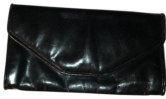 Bottega Veneta Oversized Black Patent Leather Clutch Image 0