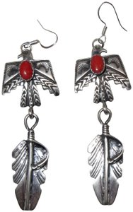 Other Navajo Thunderbird Earrings Emer Thompson Sterling Silver & Coral