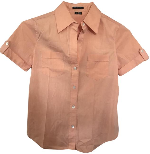 Preload https://img-static.tradesy.com/item/22905418/theory-peach-short-sleeve-cotton-stretch-button-down-top-size-petite-0-xxs-0-1-650-650.jpg