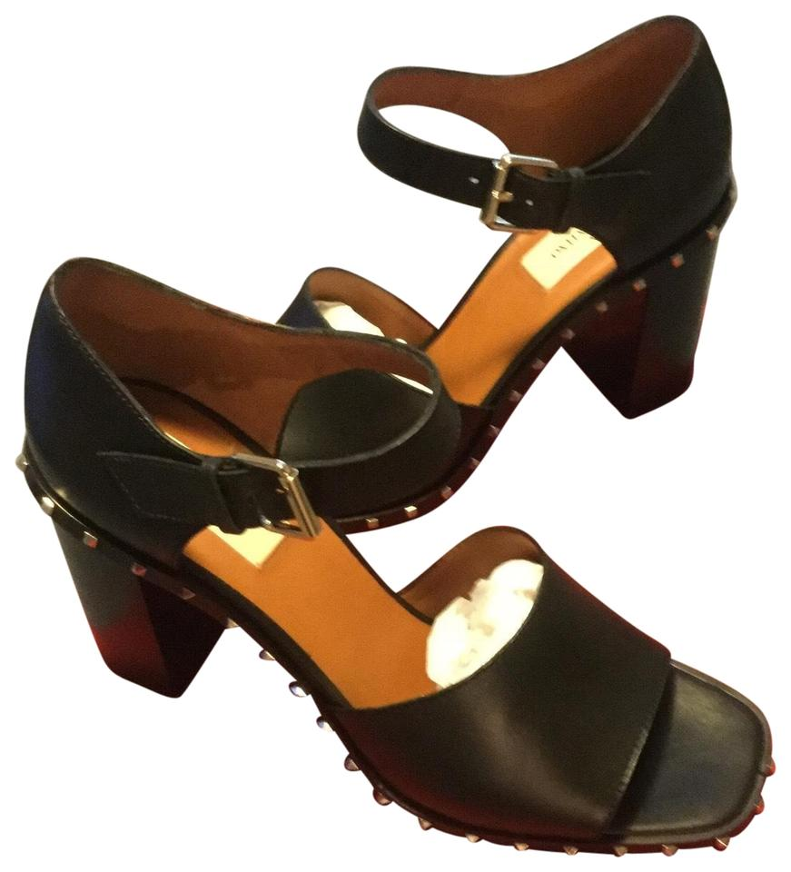 chunky footwear black sandal in ash lyst shoes gallery platform stud