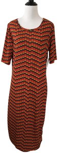 multi Maxi Dress by LuLaRoe Fitted Multicolor - item med img