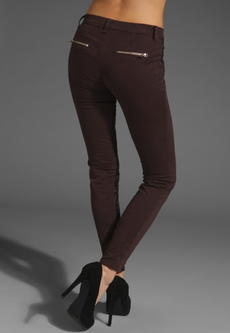 J Brand Denim Two-toned Cropped Skinny Jeans