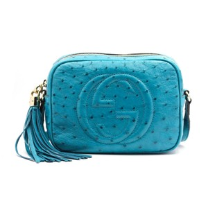 8135a4ef3 Added to Shopping Bag. Gucci Cross Body Bag. Gucci Soho Soho Disco Disco  Limited Edition Ostrich Blue Leather ...