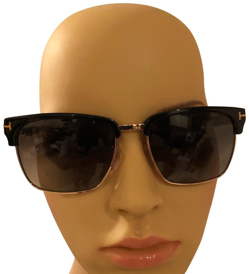 3982d82706a Tom Ford Black and Gold Polarized River Square Mm Sunglasses - Tradesy