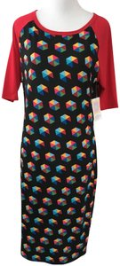 multi Maxi Dress by LuLaRoe Fitted Multicolor