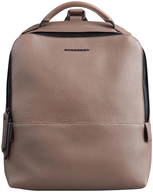 Burberry Warm Grey Leather Backpack Burberry Warm Grey Leather Backpack Image 1