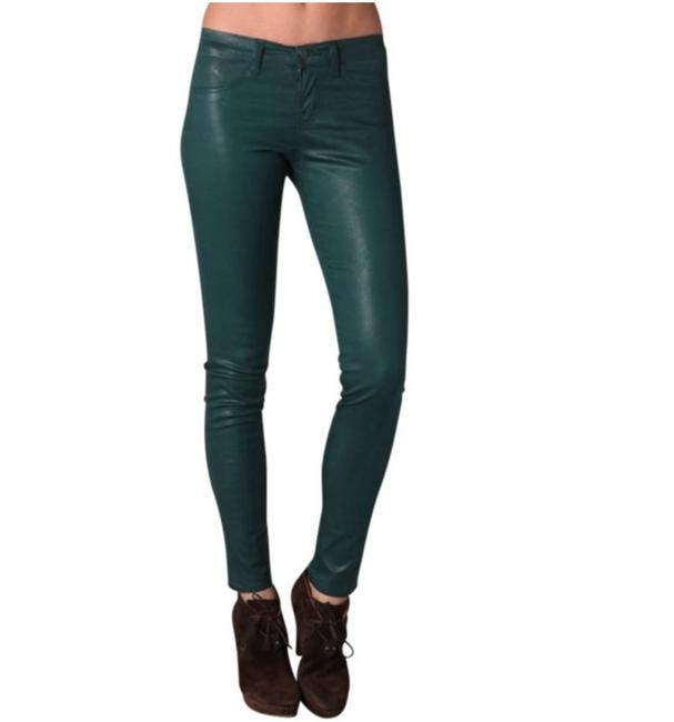 J Brand Jegging Legging Wax Coated Skinny Jeans-Coated