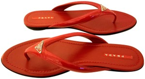 Prada Size Flip Flops Summer Fashion Red Sandals