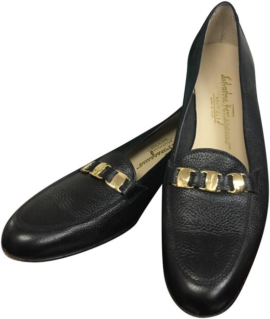 Salvatore Ferragamo Black Leather Loafers Flats Size US 9 Narrow (Aa, N) Salvatore Ferragamo Black Leather Loafers Flats Size US 9 Narrow (Aa, N) Image 1