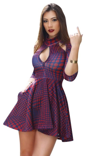 Preload https://img-static.tradesy.com/item/22905599/blue-and-red-mini-short-casual-dress-size-4-s-0-1-650-650.jpg