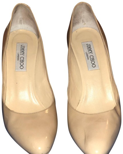Jimmy Choo Esme Esme 85 Nude Pumps