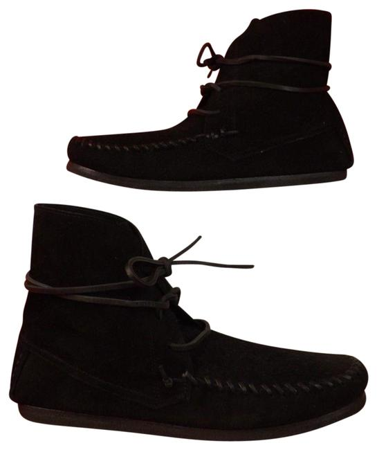 Isabel Marant Black Etoile Suede Flavie Aparho Moccasin Ankle 5 Boots/Booties Size EU 35 (Approx. US 5) Regular (M, B) Isabel Marant Black Etoile Suede Flavie Aparho Moccasin Ankle 5 Boots/Booties Size EU 35 (Approx. US 5) Regular (M, B) Image 1