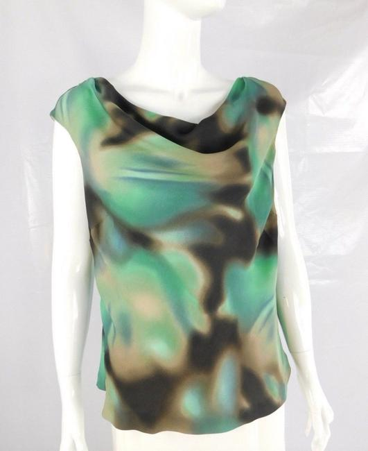 Classiques Entier Silk Gradient Sleeveless Cami Top Green