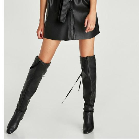 Preload https://img-static.tradesy.com/item/22905652/zara-black-new-with-tags-leather-high-with-gathered-detail-bootsbooties-size-us-6-regular-m-b-0-2-540-540.jpg