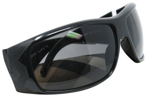 Burberry Signature Wrap Around Black Rectangular Sunglasses by Safilo 8485/S