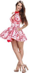 Miss&misses short dress white and red on Tradesy