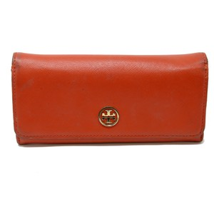 Tory Burch Signature Saffiano Leather Long Robinson Envelope Continental Wallet