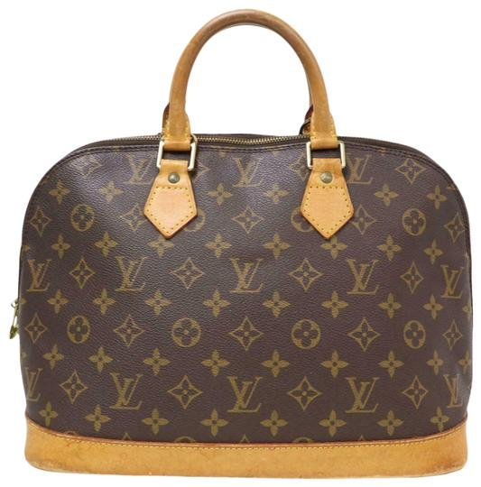 Louis Vuitton Alma Lv Satchel in Monogram Image 0