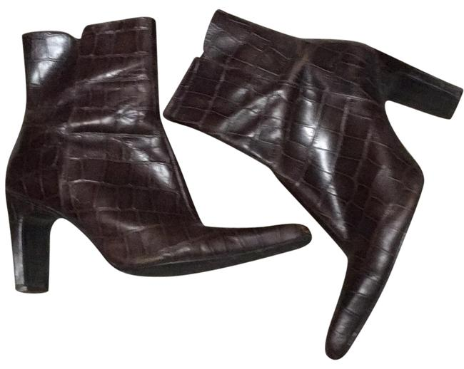 Nine West Brown Crocodile Boots/Booties Size US 6.5 Regular (M, B) Nine West Brown Crocodile Boots/Booties Size US 6.5 Regular (M, B) Image 1