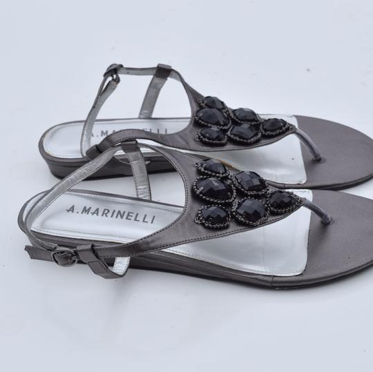 A. Marinelli silver Sandals