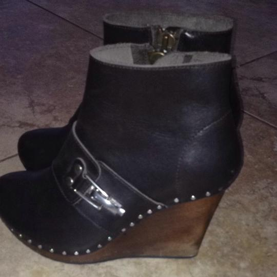 See by Chloé Leather Studded Brown Boots