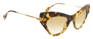 Miu Miu Miu Miu Sunglasses Cat Eye 2014 Crystal 04PS 10NS Glitter Gold By Prada