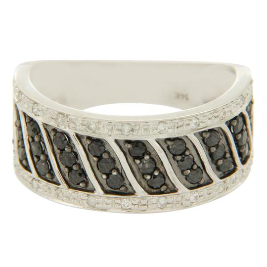Preload https://img-static.tradesy.com/item/22906175/14k-white-gold-035-ct-black-and-white-diamonds-wedding-band-ring-0-1-540-540.jpg