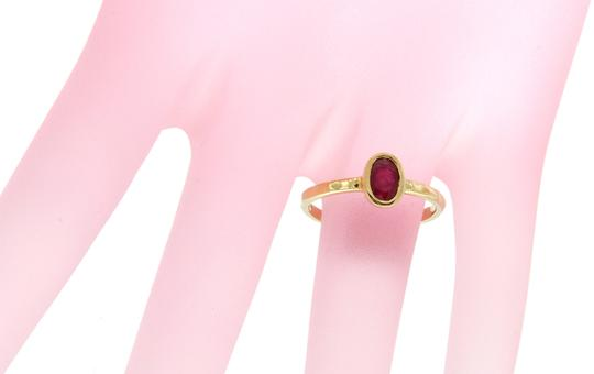 Luxo Jewelry 0.55 CT Ruby in 14K Yellow Gold Engagement Ring Size 6.5
