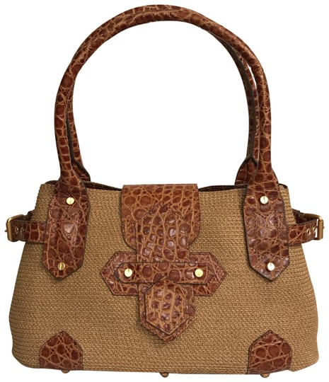 Preload https://img-static.tradesy.com/item/22906245/eric-javits-classic-and-leather-trim-beige-brown-woven-tote-0-1-540-540.jpg