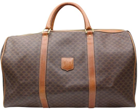 Preload https://img-static.tradesy.com/item/22906268/celine-boston-macadam-monogram-duffle-865859-brown-coated-canvas-weekendtravel-bag-0-1-540-540.jpg