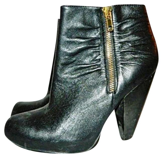 """Chinese Laundry Black Ankle """"Wicked"""" Leather Boots/Booties Size US 6.5 Regular (M, B) Image 1"""