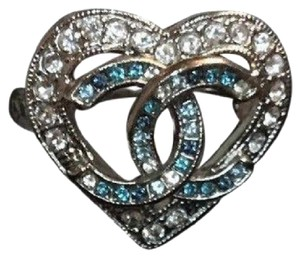 Chanel New with tag 16 k heart crystal ring EU 52/US 6