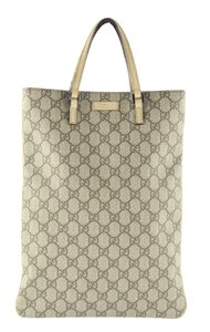 Gucci Monogram Italy Vintage Tote in Beige and Brown GG