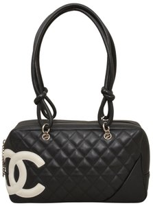 Chanel Quilted Caviar Caviar Leather Satchel Shoulder Bag