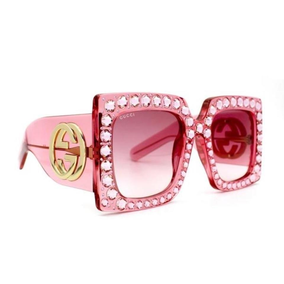 1b52504068 Gucci Gucci 0145 Oversize Square-frame Acetate with Pink Lenses Sunglasses  Image 0 ...