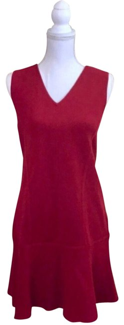 Preload https://img-static.tradesy.com/item/22906463/ann-taylor-red-small-neck-sp-mid-length-workoffice-dress-size-petite-6-s-0-1-650-650.jpg