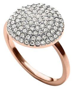 Michael Kors Price Reduced until 12/15....2 (TWO) Piece Set Rose Gold Tone Crystal Pave Disc Necklace & Cocktail Ring