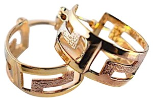 Raf Rossi Gold Plated Tri Color Goldfilled earrings hoops - item med img