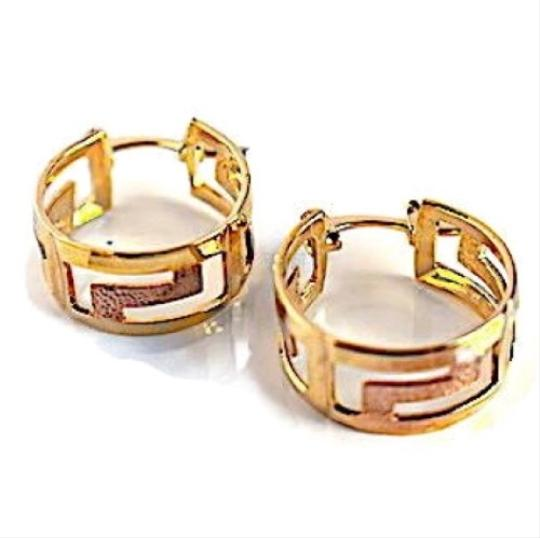 Raf Rossi Gold Plated Tri Color Goldfilled earrings hoops