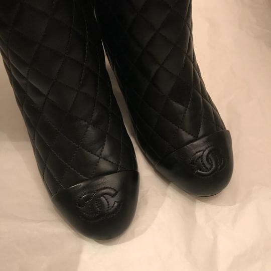0dcead2bcf1 Chanel Black Quilted Lambskin Tall Boots/Booties Size US 6 Regular (M, B)  35% off retail