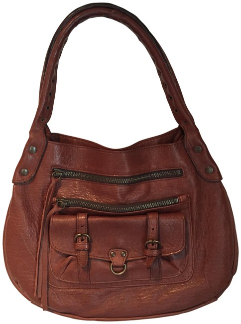 Item - Brown Lambskin Leather Shoulder Bag