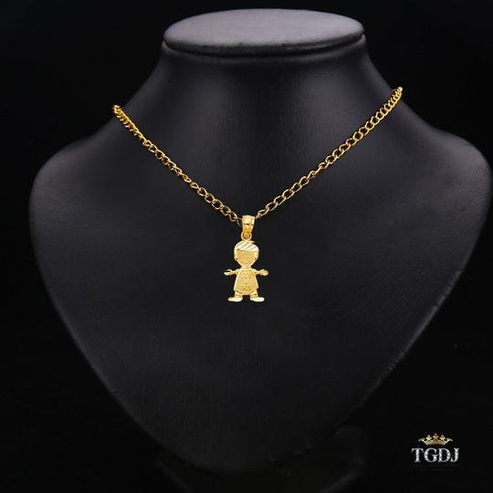 Top Gold & Diamond Jewelry 14K Yellow Gold Boy Pendant