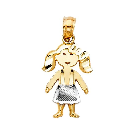 Preload https://img-static.tradesy.com/item/22906641/two-tone-14k-yellow-white-girl-pendant-charm-0-0-540-540.jpg