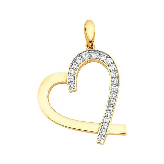 Preload https://img-static.tradesy.com/item/22906647/yellow-14k-heart-pendant-charm-0-0-540-540.jpg
