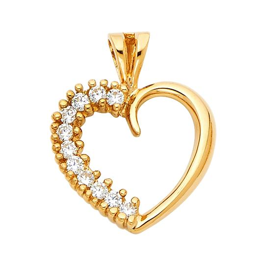 Preload https://img-static.tradesy.com/item/22906660/yellow-14k-heart-pendant-charm-0-0-540-540.jpg