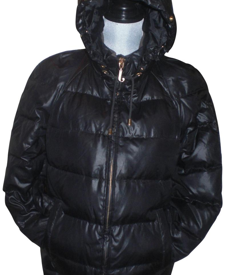 7479994a0 Juicy Couture Black Classic Down Hooded Puffy Bubble Coat Jacket Size 10 (M)