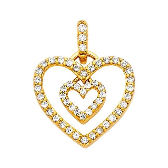 Preload https://img-static.tradesy.com/item/22906666/yellow-14k-heart-pendant-charm-0-1-540-540.jpg
